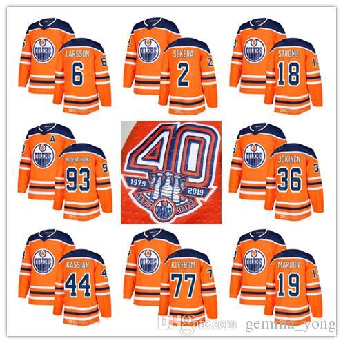04958eeba 2019 2019 Edmonton Oilers 40th Anniversary Jerseys 19 Patrick Maroon 77  Oscar Klefbom 33 Cam Talbot 2 Andrej Sekera 6 Adam Larsson 4 Russell From  Gemma yong ...