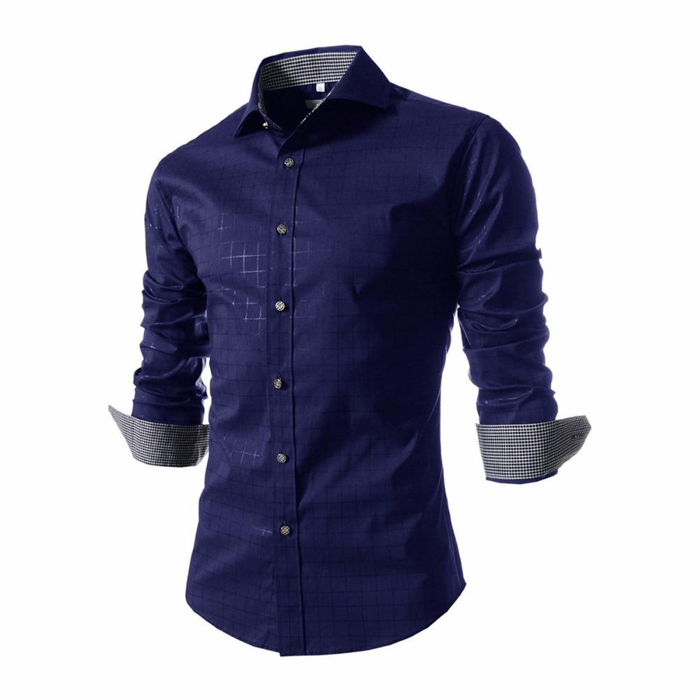 2019 Dress Shirt Men Slim Fit Style Male For Boys Casual Shirt Mens