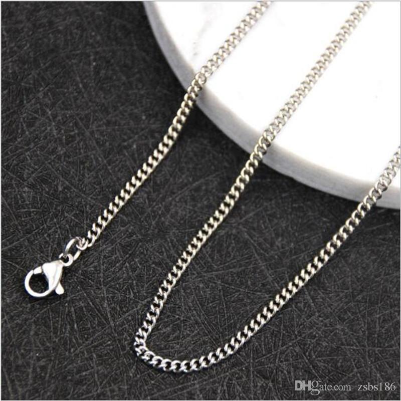 Оптовая высокое качество 1.9 мм из нержавеющей стали боковой цепи ожерелье длина 18-24 дюймов мода аксессуары для вечеринок ювелирные изделия для мужчин и женщин