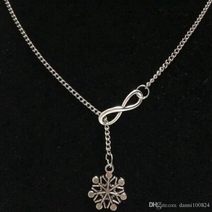 fortunato 8 Ottone Knuckle Dusters / Fata / Fata / Fiocco di neve / Capo indiano maglione d'argento catena maglione necklaceDIY Donna gioielli Accessori A51