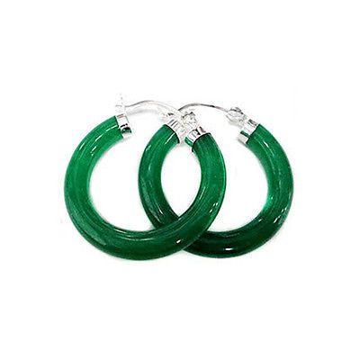 Toptan Doğal Taş Yeşil Yeşim 925 Gümüş moda küpe lady için