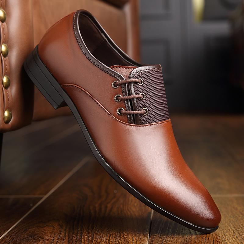 d85e2d8834745b OSCO Leather Oxford Shoes For Men Dress Shoes Men Formal Pointed Toe  Business Wedding Plus Size 38 44 Ladies Shoes Loafers For Men From  Prettyman, ...