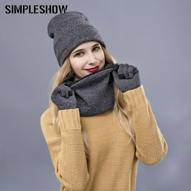 Fashion Winter Hat Scarf Gloves Set For Women Men Thick Cotton Unisex Winter  Accessories Beanies Scarf Gloves UK 2019 From Cupwater 0b5aa639e9a4