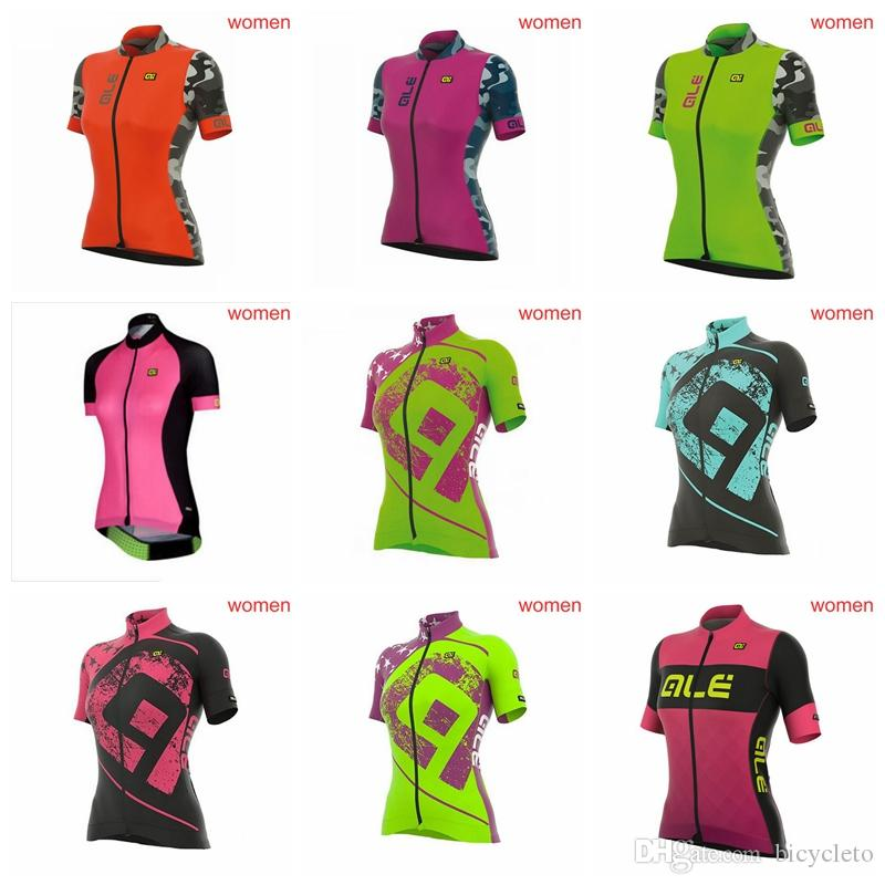 0b03a638c ALE Team Cycling Jersey 2018 Summer Quick Dry Women Breathable ...