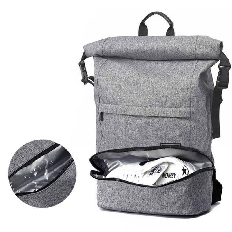 5f99d85be1c 2019 Waterproof Gym Backpack Large Capacity Crossfit Backpack Foldable  Travel Fitness Bags Anti Theft Dry Wet Depart Pocket Design From Gqinglang,  ...