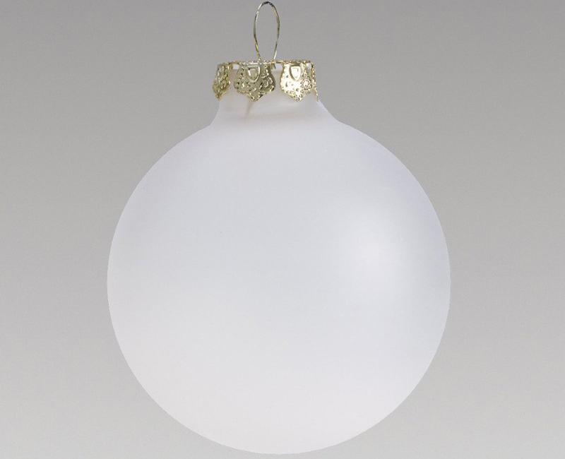 Promotion - DIY Paintable Clear Christmas Xmas Tree Decoration 80mm Frosted Glass Ball Ornament - 5/Pack