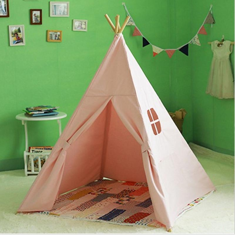 Four Poles Children Teepees Kids Play Tent Cotton Canvas Teepee White Playhouse For Baby Room Tipi Baby Toys Crib Bedding Separates Sheep Crib Bedding From ... & Four Poles Children Teepees Kids Play Tent Cotton Canvas Teepee ...