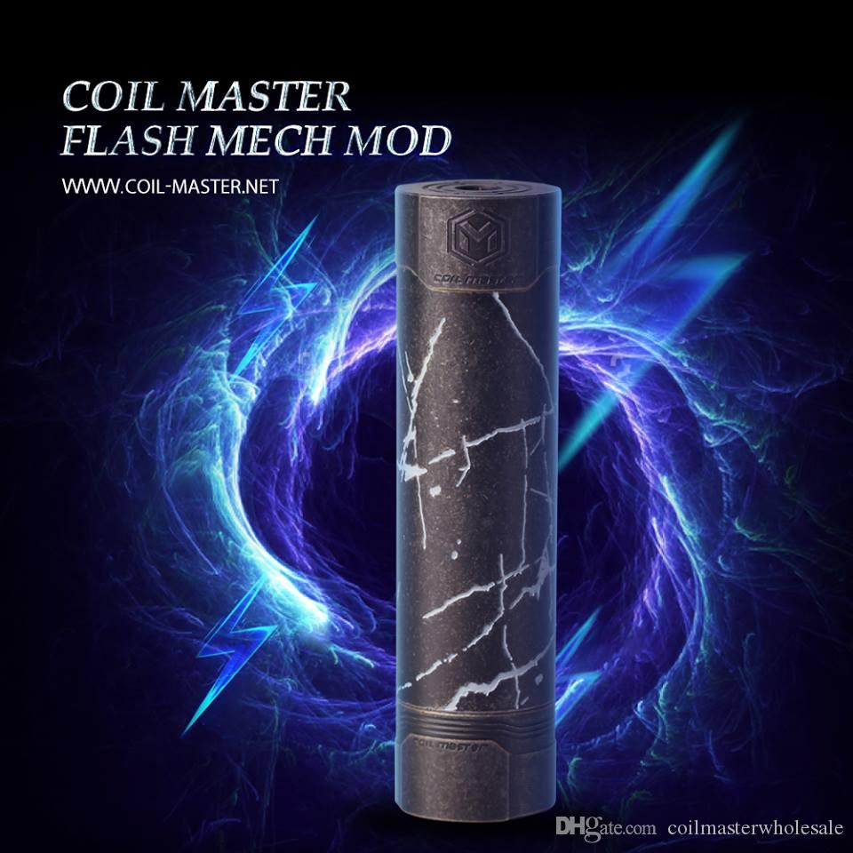 100% Original Coil Master Flash Mech Mod High-end Brass&Cooper 18650 Vape  Mod 2018 Newest IN STOCK