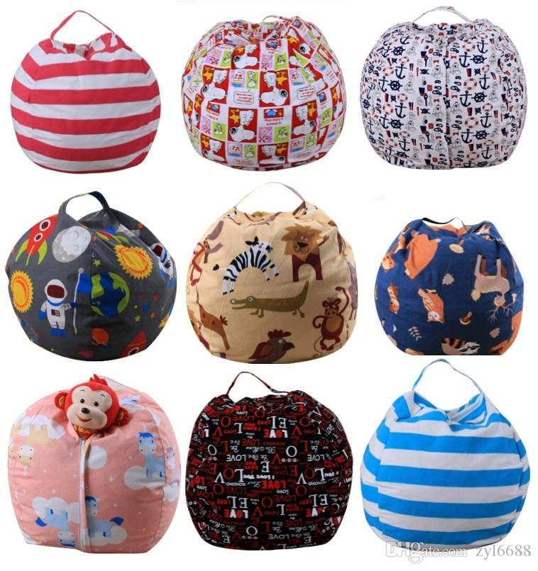 47 Styles 18inch Kids Storage Bean Bags Plush Toys Beanbag Chair Bedroom  Stuffed Animal Room Mats Portable Clothes Storage Bag Storage Bean Bags  Plush Toys ...