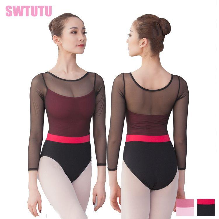 0aaf14a9a51d 2019 Cotton Lycra Leotards Bodysuit Sexy Gymnastics Leotards Unitard Women  Long Sleeve Black Leotard Ballet Clothes Dancewear CS0709 From Purlove, ...