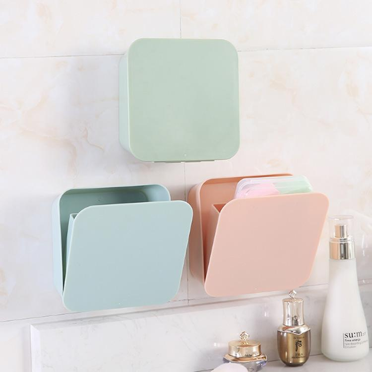 2018 Wall Storage Box Plastic Material Small Sundries Waterproof Paste  Hanging Box For Bathroom Household 14*5.5*14cm From Lhj1990928, $4.62 |  Dhgate.Com