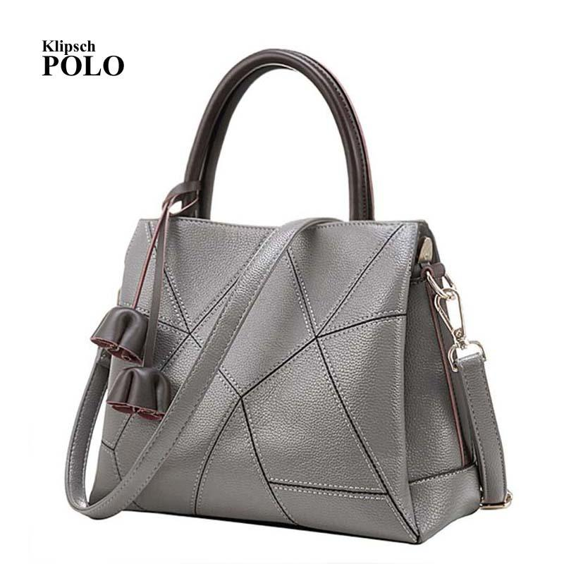 a168859e0167 Best Special Offer New Bucket Quality Genuine Leather Women Handbags 2018  Brand Tote Bag Plaid Top-handle Famous Designer Totes