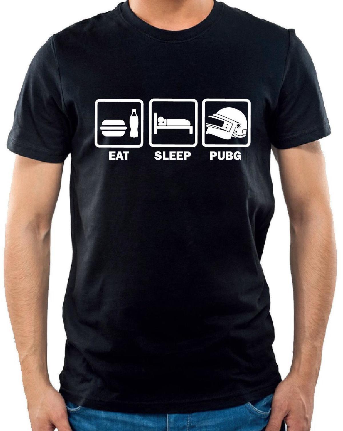 fb788d51a T-shirt Eat Sleep Pubg - PlayerUnknown's Battlegrounds tee shirt Geek humour