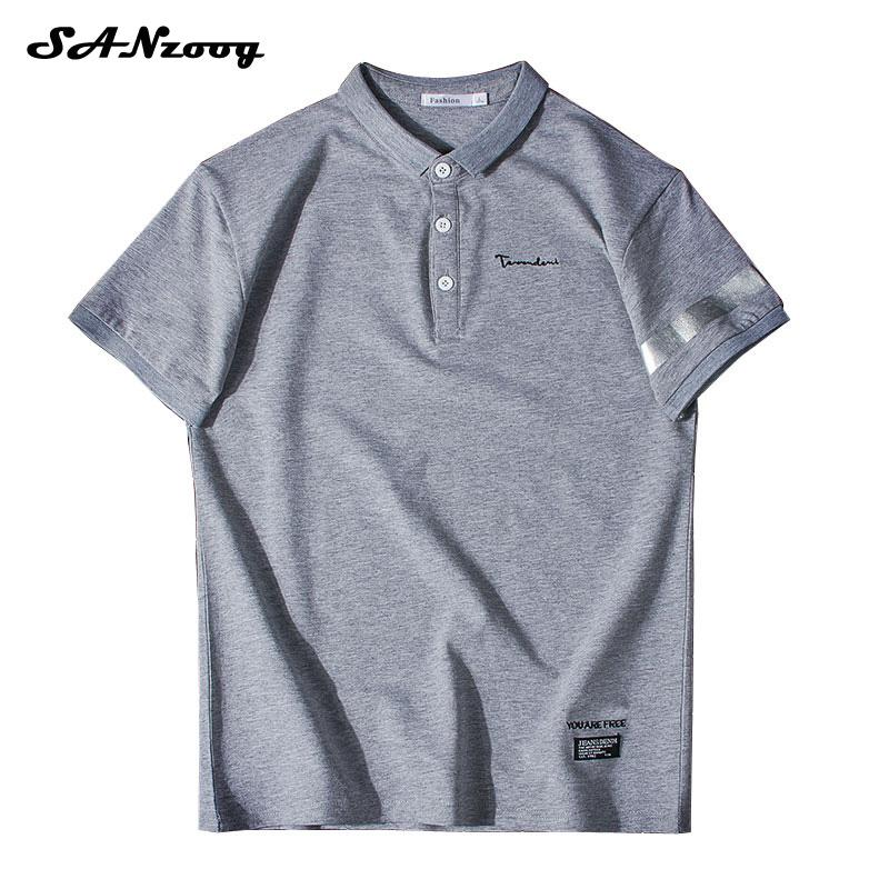 ec94205a544c8 Polo Shirt Men Vetement Homme 2018 Summer New Man Cotton Casual Short  Sleeve Solid Mens Clothes Loose Style Top Tees Online with  43.29 Piece on  ...