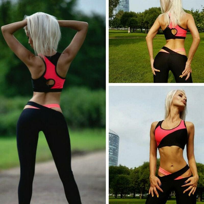 2019 Yoga Sets Women Fitness Gym Clothing Women Matchwork Yoga Sports Bra  Leggings Two Piece Gym Set Legging Bra Workout Wear Sets From Gqinglang 26c23d4fd