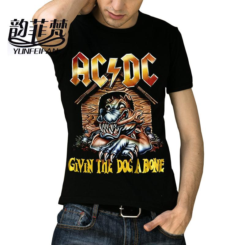 ed430738262e0 2018 Famous Brand Fashion AC DC rock Clothing The Chucky Rock 3D Printed  Men s Skull T Shirt t-shirt Mens merk tops heavy metal
