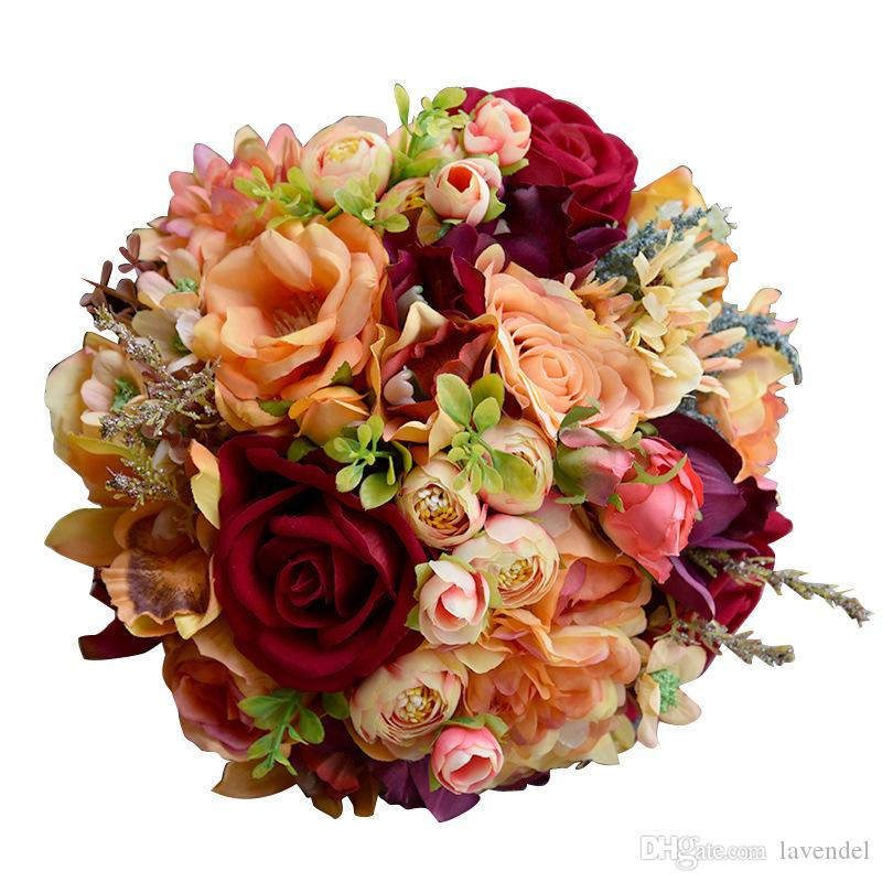 2018 Fashion Romantic Outside Wedding Flowers Bridal Bouquets ...