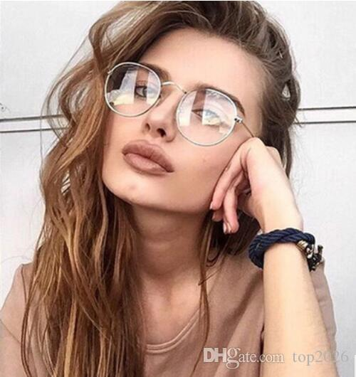 57c0af92ae Men women outdoor metal round frame glasses fashion handsome jpg 500x530 Cute  glasses