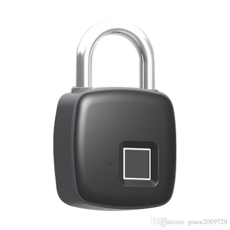 Anytek P3 smart fingerprint locks waterproof USB charge keyless smart  padlock