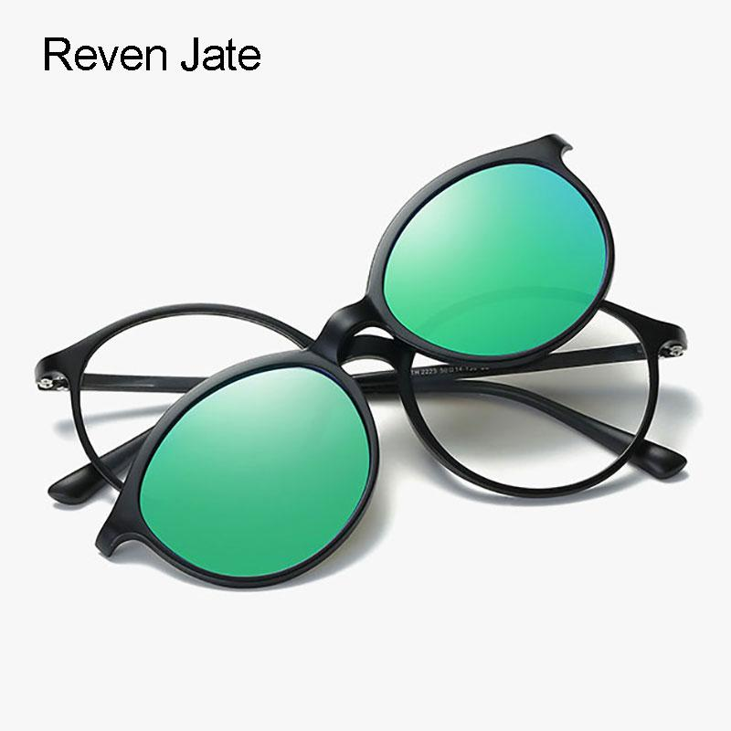 39196af297451 Reven Jate Fashion Polarized Sunglasses Clip Ons Super Light Tr 90 Glasses  Frame With Polarize Magnetic Sunshades Clip Ons Sunglasses For Women Cat  Eye ...