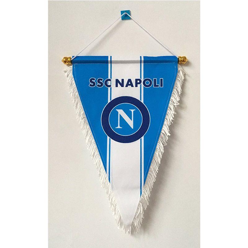 Italy Serie A SSC Napoli Three Corner Handing Flag 36cm*23cm Size Decoration flag banner for home & garden Festive