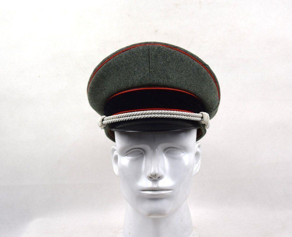 9439e4c9584 2019 Men s GERMAN ELITE OFFICER HAT WOOL VISOR CRUSHER CAP RED PIPE IN  SIZES From Cloudyday