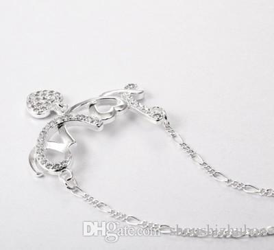 Romantic Promising Love Heart Letter Pendant Necklace Silver Women Neckless Jewelry Forever Love Name Anniversary Gift CHN013