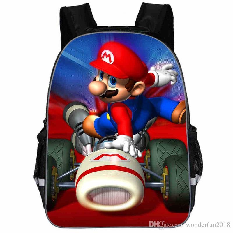13 Inch Cartoon 13 Inch Cartoon Super Mario Bros Kids Backpack Kindergarten School Bag Children Printing Backpack Girls Boys Mochila