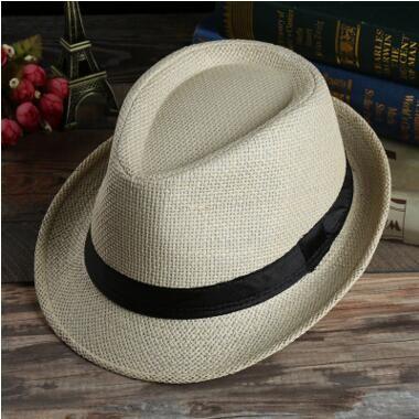 5738574c85a 2019 Men Women Panama Straw Hats Fedora Stingy Brim Hats Soft Hats For  Unisex Summer Sun Beach Caps Linen Jazz Hat Kid Cap From Abchouse