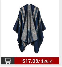 Voneyesa nuevo invierno poncho bufandas para las mujeres caliente Cahmere mujeres de gran tamaño chales de alta calidad RO17014