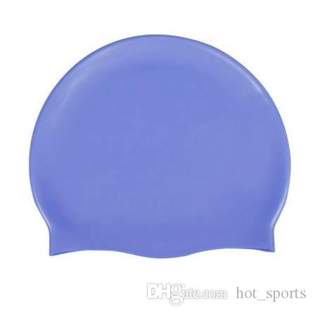 Compre Gorro De Natación De Silicona Para Adultos Sombrero De Natación  Duradero Flexible A  5.28 Del Hot sports  1f14fc8ce96