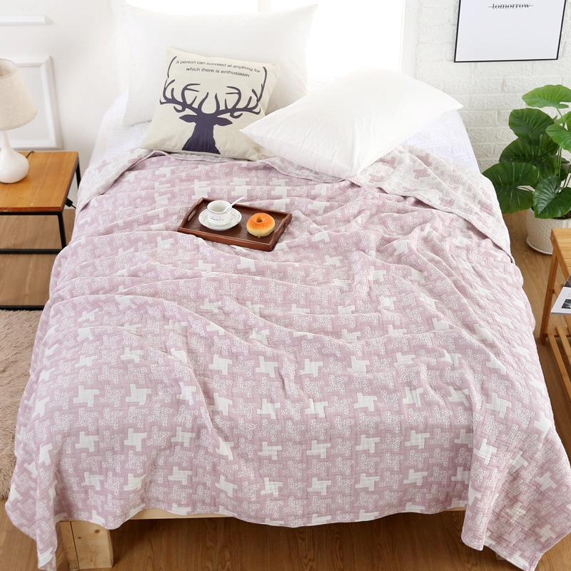 Home & Garden Blankets Lovely Chunky Knit Blanket Double Side Soft Fleece Pink Plaid Cotton Blanket For Summer Blanket Adult Fleece Blanket Bed Sofa Cover