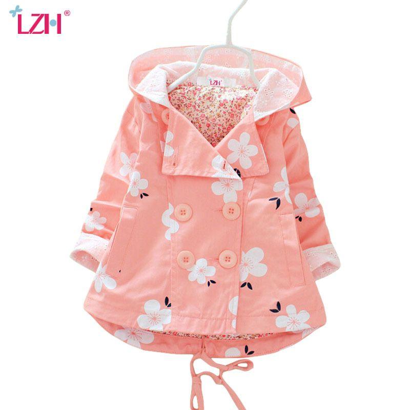 48130ed0c LZH Baby Girls Jacket 2018 Autumn Winter Jacket For Girls Trench ...