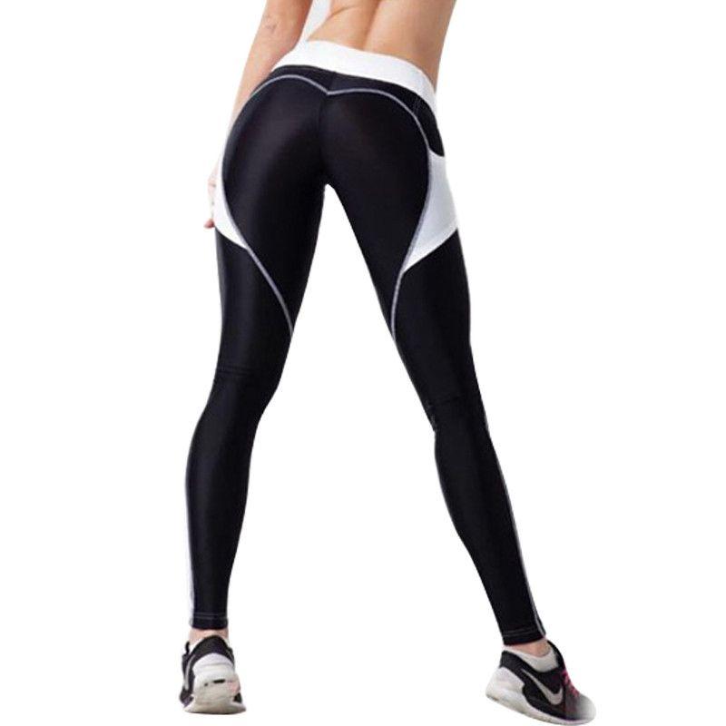 6a6001f7d2cc6 Women Push Up Leggings with Pockets Fashion Heart Black Leggins ...