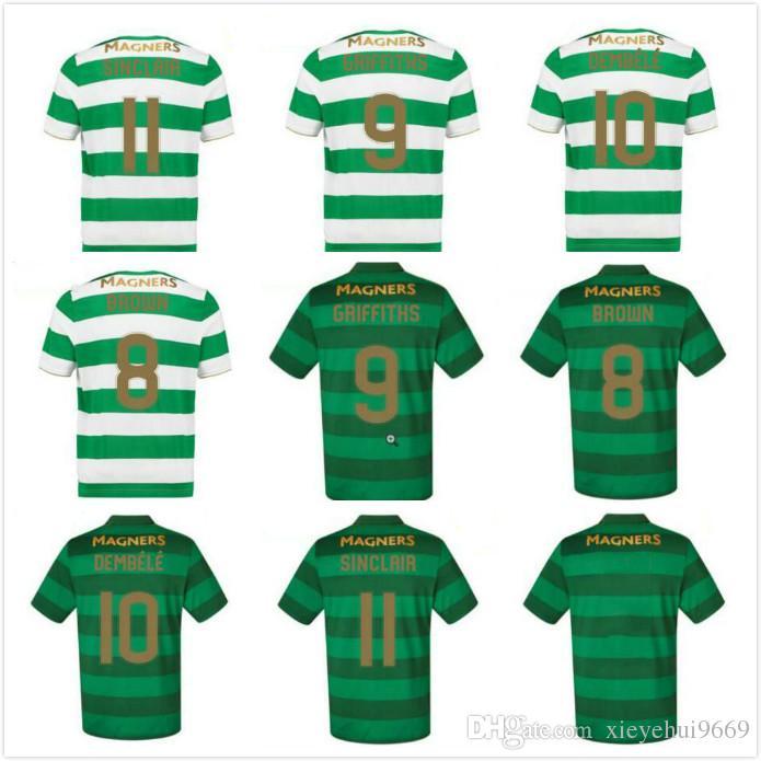 26825ac70 2019 Best 2018 Scotland League Celtic Soccer Jerseys AWAY Armstrong  GRIFFITHS LUSTIG SINCLAIR BITTON BROWN Football Shirts From Xieyehui9669