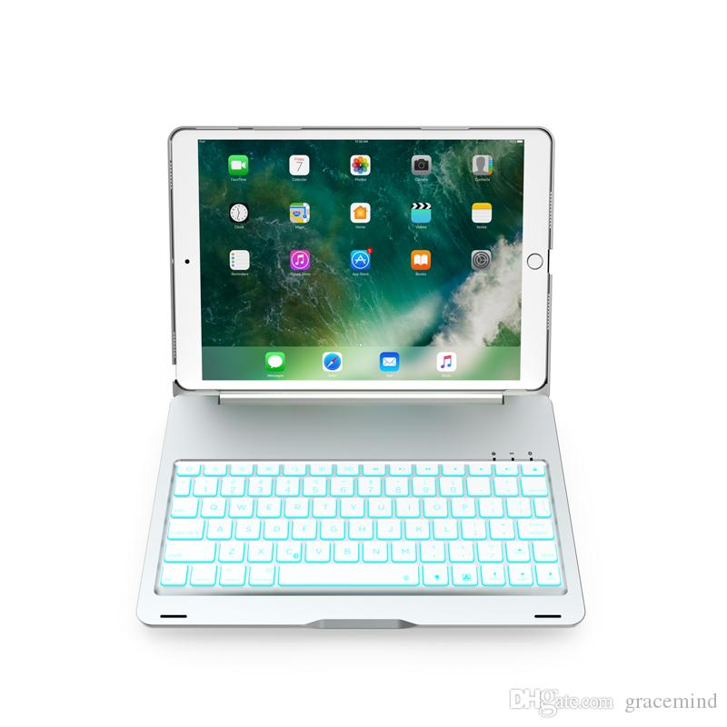 1782d086195 Wireless Bluetooth Keyboard Case For IPad Pro 10.5 Inch LED Backlit  Aluminum Alloy Back Hard Stand Cover Picture Of Keyboard Pink Keyboard From  Gracemind, ...