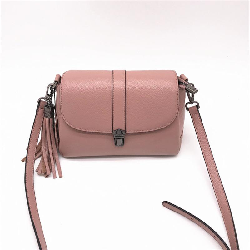 Real 100% Cow Genuine Leather Mini Shoulder Bag For Women Flap Ladies Bag  Black Brown Pink Red Green Gray 2305 Mens Shoulder Bags Shoulder Bags For  Men From ... a202e8b72d4c0