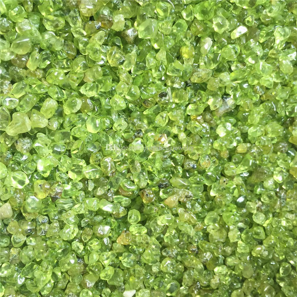 Olivine Natural Green Peridot Gravel Crystal Jewelry Quartz Tumbled Stone Minerals Chips For Wedding anniversary Gift decoration