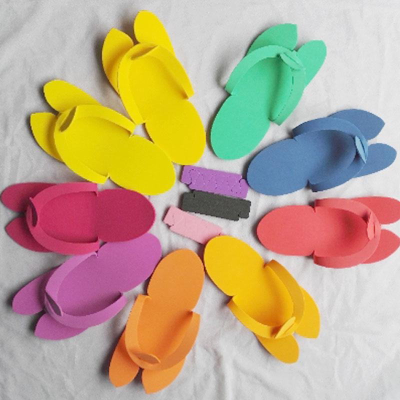55f2fd0b0 Disposable Foam Pedicure C Spa Flip Flop Slippers Sandals Multi Color  Beauty Nail Suplement Bunion Aid Bunion Corrector From Roseeyy