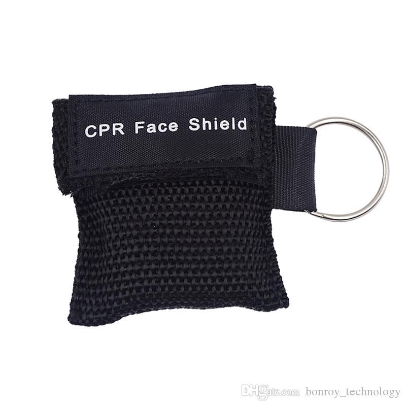 CPR Маска с брелок CPR Face Shield для СЛР / AED обучение первой помощи спасательных Survial Kit 6 Цвет Для выбранного