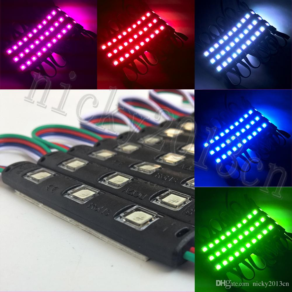 2018 5050 rgb led module light strip 3 leds smd injection molding 2018 5050 rgb led module light strip 3 leds smd injection molding 12v black pvc waterproof color change for advertising sign from nicky2013cn aloadofball Image collections
