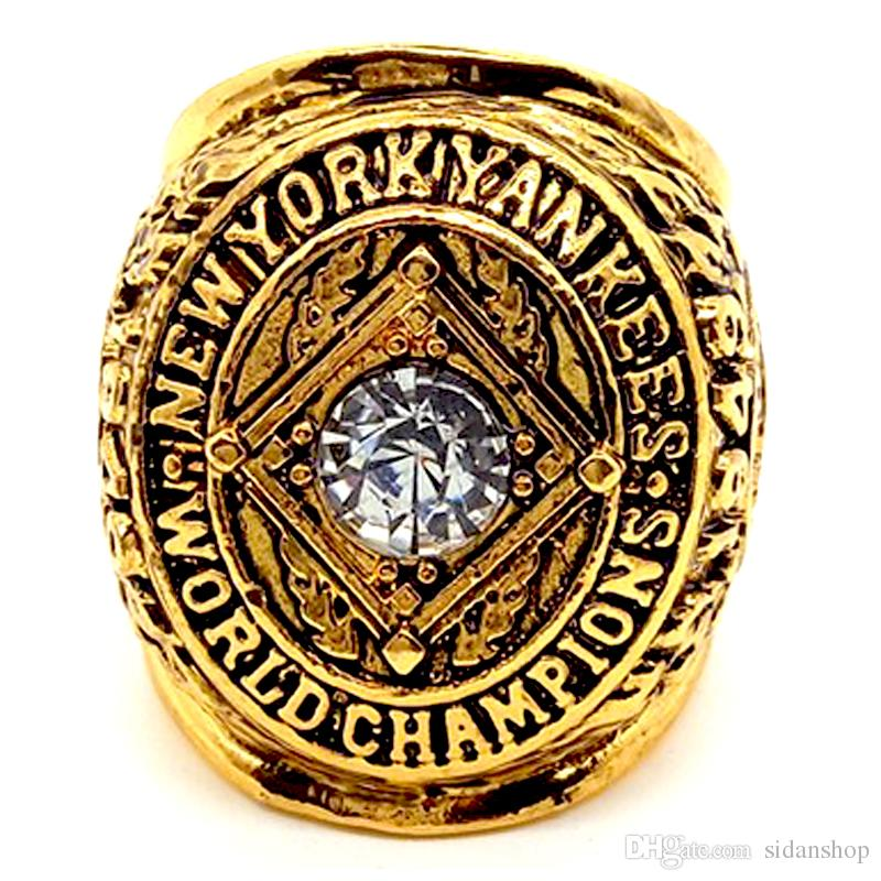 Rare and Historic1949 Yankees World Series Anel Fashion Men's Ring Collector's Gift Fabricante Transporte rápido