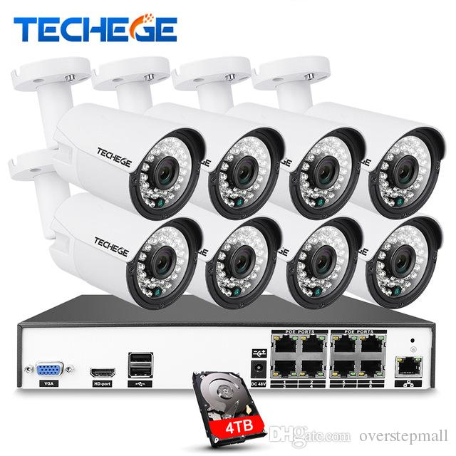 H.265 4CH CCTV Surveillance Kit 4MP Security Camera System Video ...
