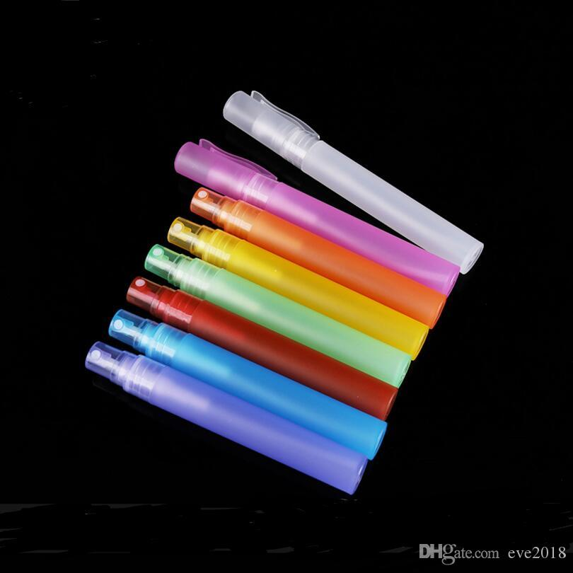 Bottiglie di spruzzo del profumo della penna di plastica di viaggio di 10ml Svuotano i mini contenitori riutilizzabili Atomizzatore LX1164