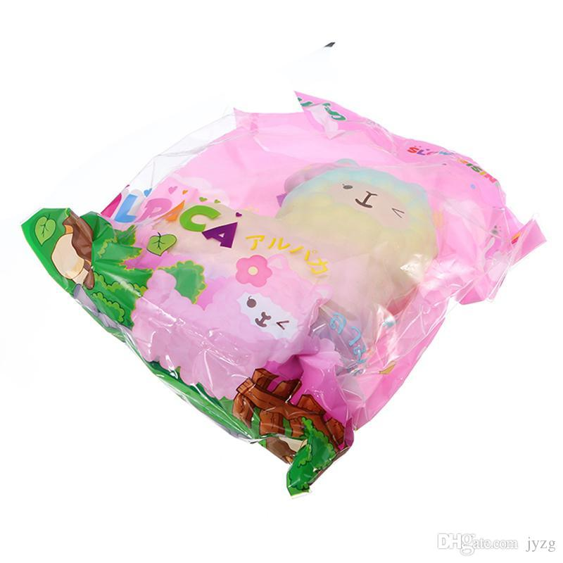 Squishy Hot Alpaca 17cm Slow Rising Original Packaging Collection Gift Decor Toy Phone Straps Decompress Toy