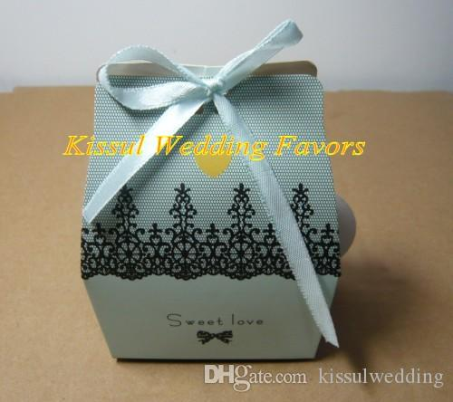 Popüler düğün düğün iyilik ve hediye kutuları Tatlı aşk Parti şeker kutusu gelin duşlar için iyilik 200 adet / grup Ücretsiz kargo