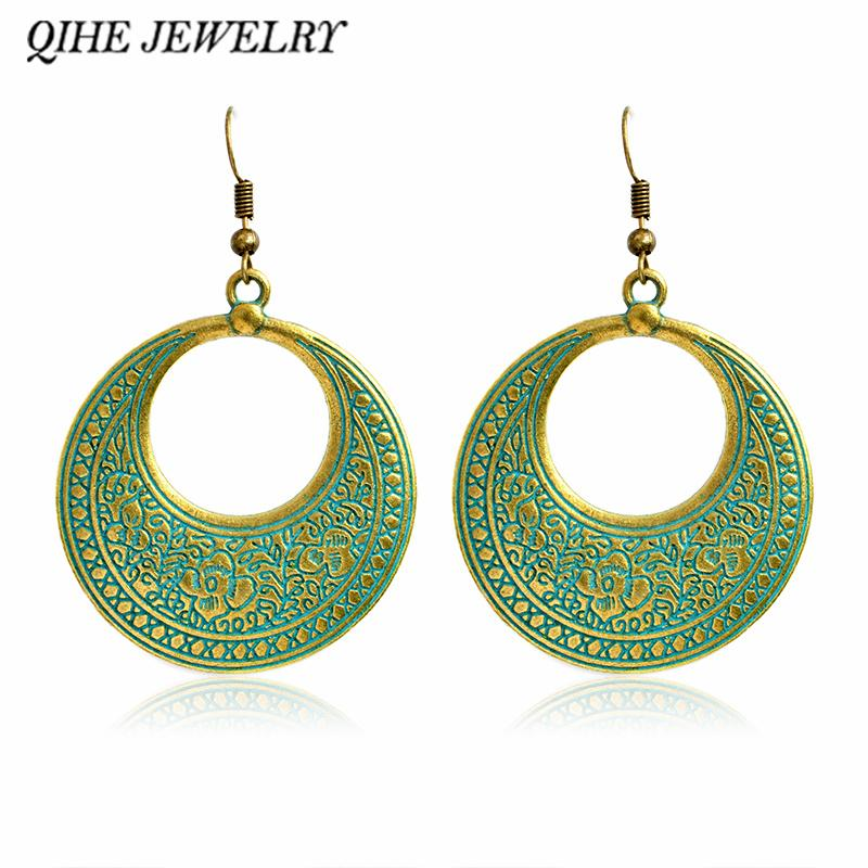 2018 qihe jewelry rustic open circle statement chandelier earring 2018 qihe jewelry rustic open circle statement chandelier earring modern fashion large chunky earrings jewelry gift from haif3 305 dhgate aloadofball Choice Image