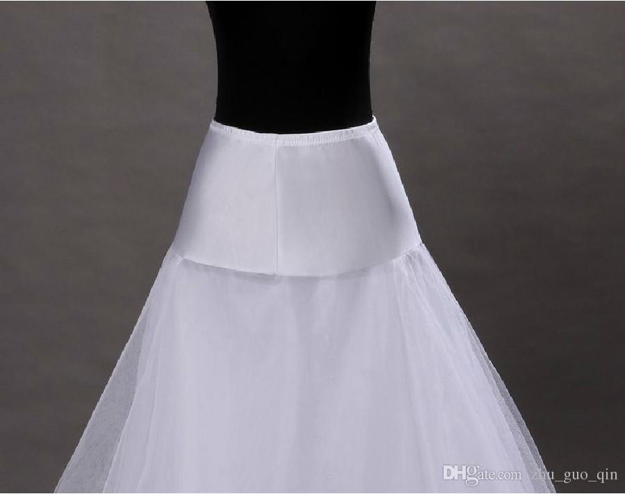 in Stock 1-hoop 2-layer Tulle Aline Petticoat Bridal Wedding Petticoat Underskirt Crinolines for Wedding Dress