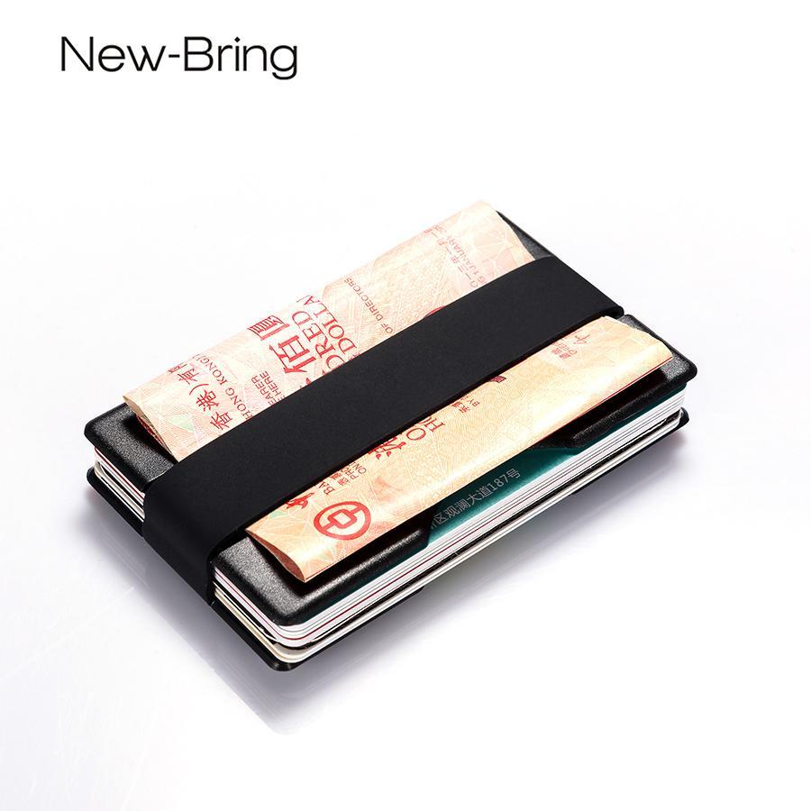 f7bd6cfccb07 NewBring Smart Slim & ID Holders Business Card Wallet Man Holder for RADIX  ONE Money Clip