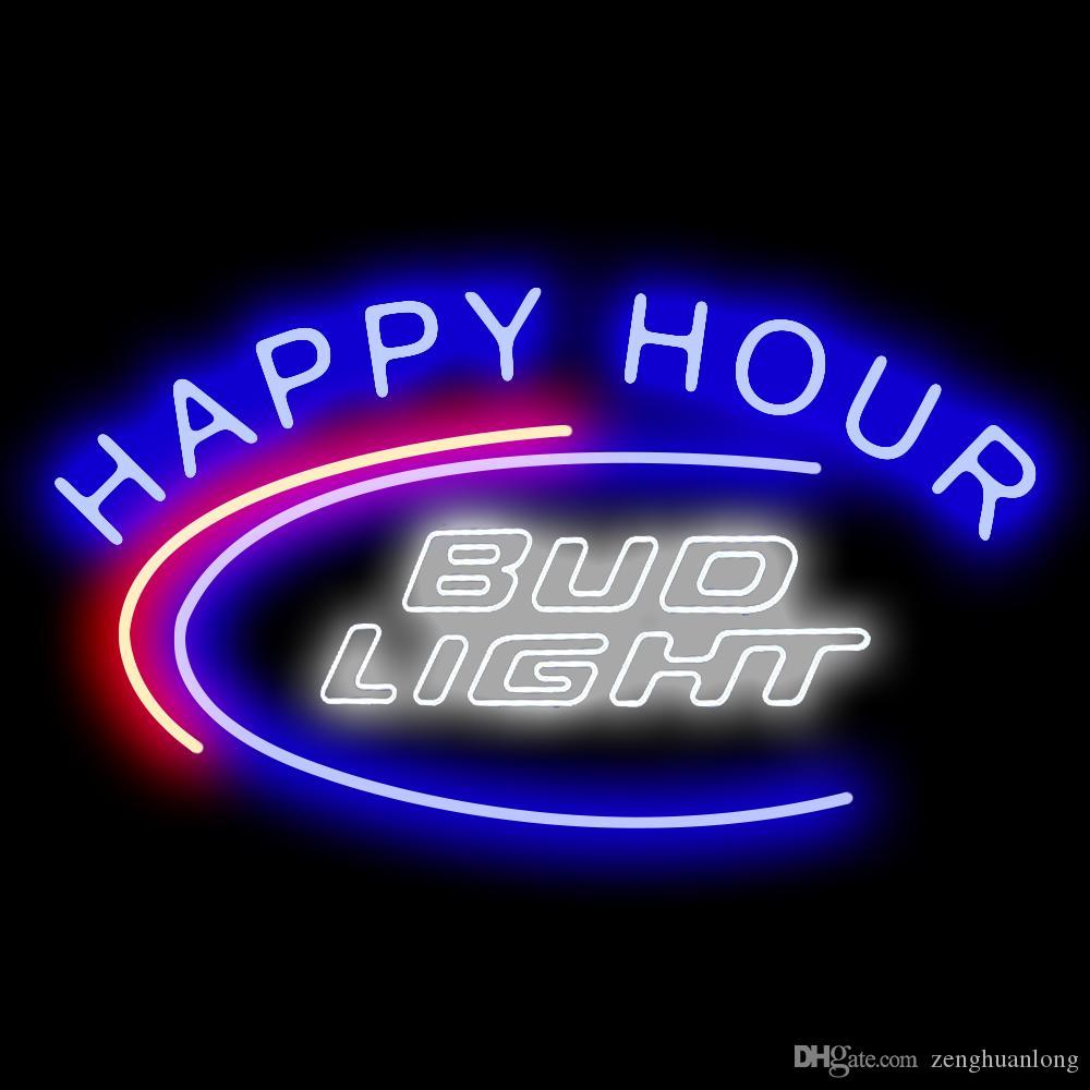 2020 Neon Signs Gift Bud Light Happy Hour Beer Bar Pub